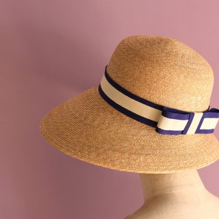 Nautical Wide Brim Straw Hat Cecil