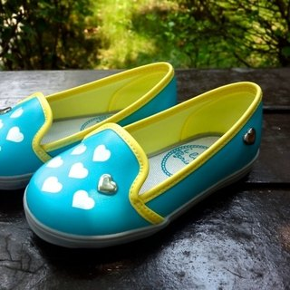 Hanna Lake water green love rivets Le Fu shoes (zero code special, only accept the return)