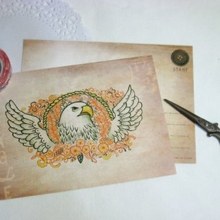 <Animals in the Secret Land> The gaze of an eagle Postcards