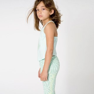 Nordic Organic Cotton Kids Star Top _ Mint Green