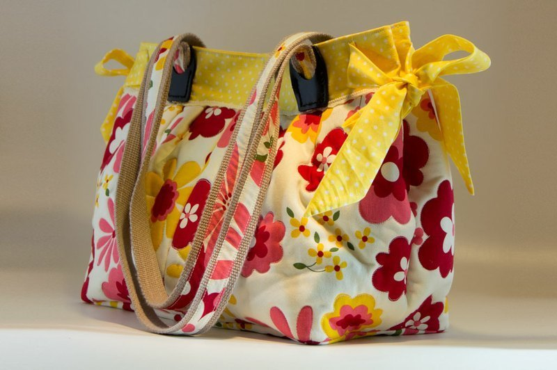 Love the Earth hand-made bag * yellow little flower handmade bags | choose your favorite fabric