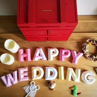 Wedding arrangement / wedding props / HAPPY WEDDING / three-dimensional character / small section