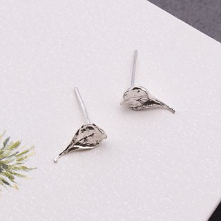 Madagascar Almond Leaf 925 Sterling Silver Earrings Nature Plant