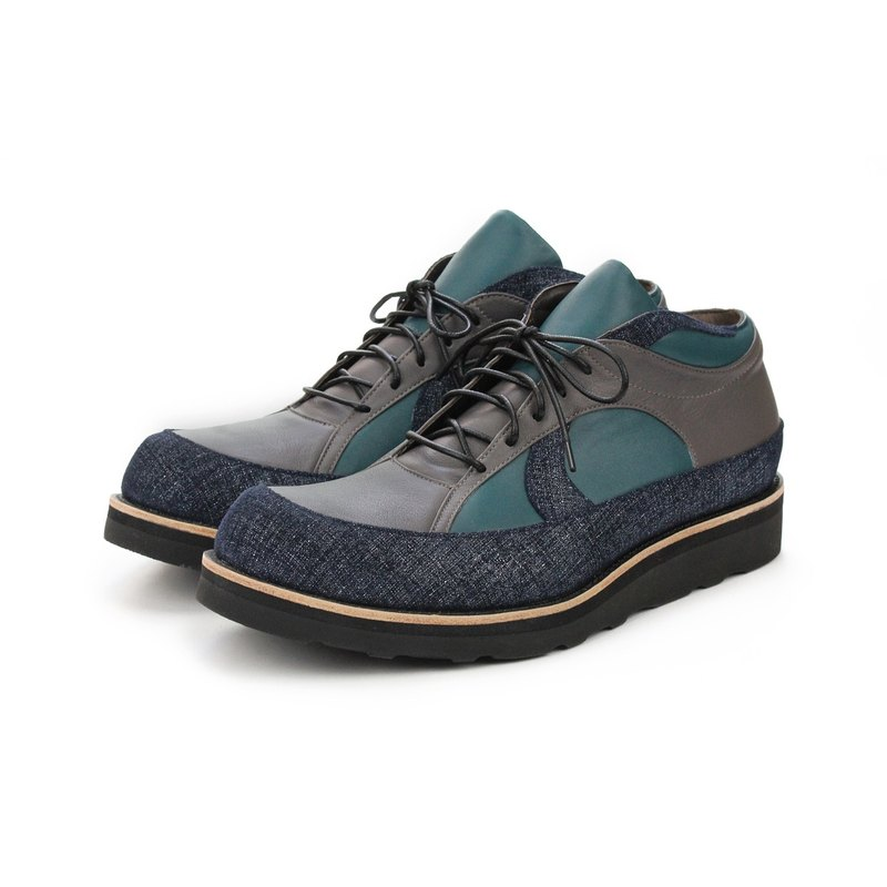 Leather Casual Vibram shoes FROZEN SHORE M1145 Navy Grey