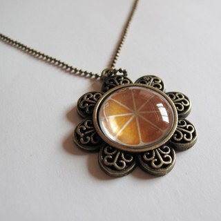 Orange bite necklace
