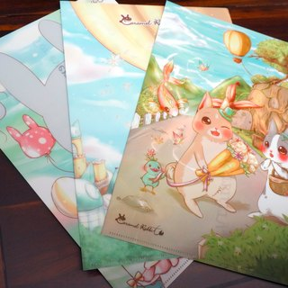 Caramel Rabbit - folders ★ 3 Piece Set / Gift