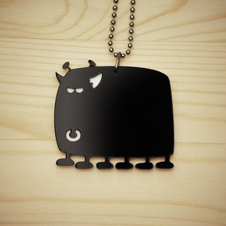 【Peej】'Radioactive Cow' Double layered Acrylic key chains/necklaces