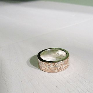 Element 47 Jewelry studio~ mokume gane ring 05 (silver/copper/shibuichi)