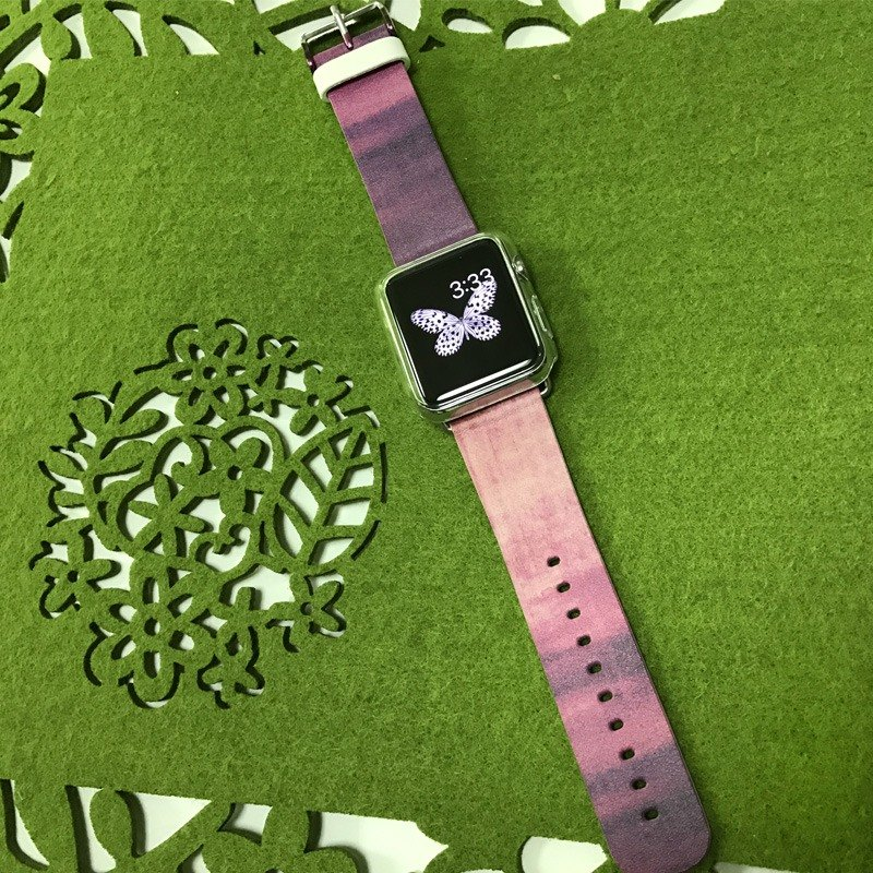 Apple Watch Series 1 , Series 2, Series 3 - Abstract Hot Pink Water Painting Watch Strap Band for Apple Watch / Apple Watch Sport - 38 mm / 42 mm avilable