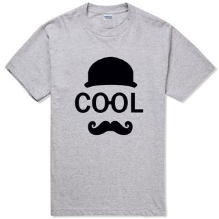 COOL T-shirt -2 color mustache mustache retro blue paper glasses fashionable art design original brand
