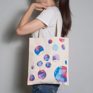 [Lucky Bag] hand-painted hand-printed fabric bag [Bubble] single-sided shoulder pattern