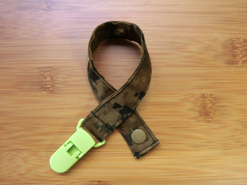 Digital camouflage - clip pacifier chain / toy belt