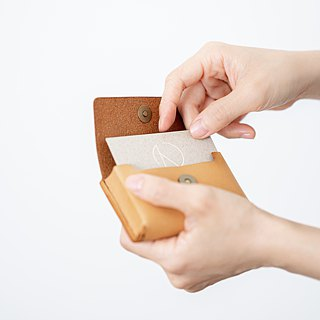 Coin, Card & Money Skinny Wallet. Card Holder / Cow Leather Coin Purse