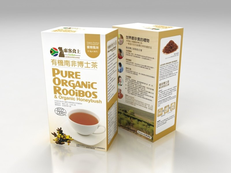 Visitors on organic food in South Africa, Dr. Tea tree honey flavor into 2.5G * 20 / box (organic rooibos and honeybush) - through safety inspection
