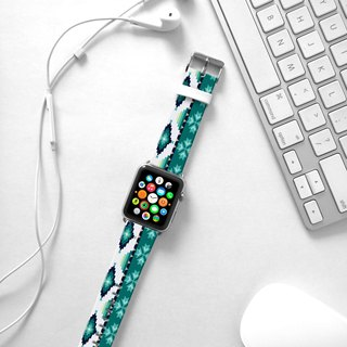 Apple Watch Series 1 , Series 2, Series 3 - Mint Navajo Pattern Watch Strap Band for Apple Watch / Apple Watch Sport - 38 mm / 42 mm avilable