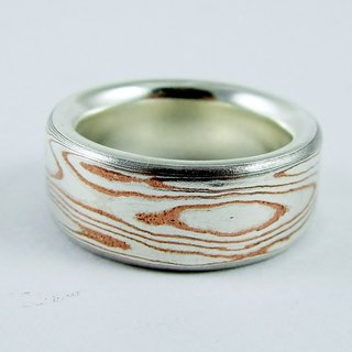 Element 47 Jewelry studio~ mokume gane ring 06 (silver/copper)