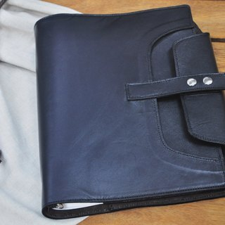 Cycle Life Series: Black lambskin B5 26 hole loose-leaf type skin section log