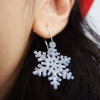 ◆ 3D Print ~  〖Christmas Edition〗Snowflakes Bling Bling Earrings(pair) ◆