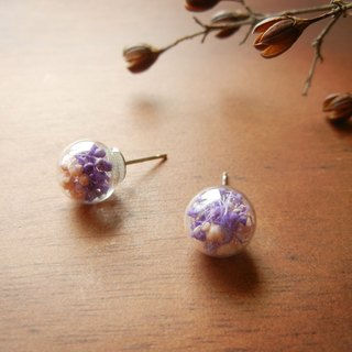 *coucoubird*lavender purple flower earrings / anti-allergic ear acupuncture