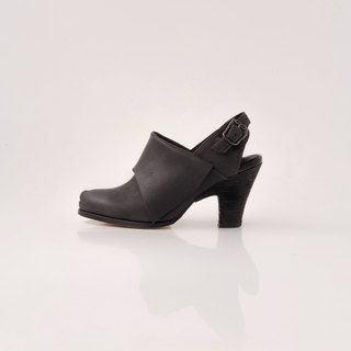 ZOODY / Angelfish / handmade shoes / high-rise folding sandals / black