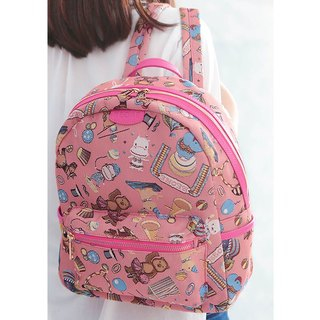 Videos jacquard woven leather backpacks happy circus