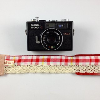 Hand-made monocular Class SLR camera strap decompression Camera back rope --- red lace lattice models