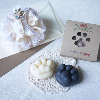 MINI Cat Paw Soap – White or Black