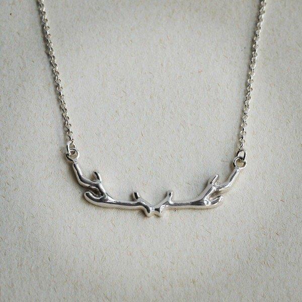 鹿角鎖骨鍊 - 925純銀項鍊 免費禮物包裝