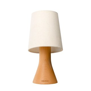 Beladesign. Small beaker solid wood lamp