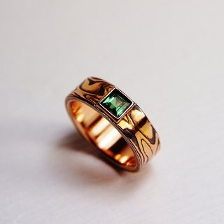 Element47 Jewelry studio~ Karat gold mokume gane wedding ring 06 (18KR/Shakudo/T