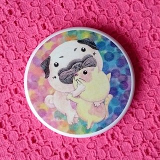 Pug Pocket Mirror-Healing Hug