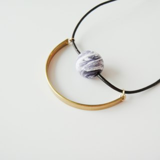 Marble Purple Clay Necklace