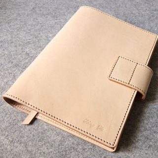 YOURS magnetic buckle leather loose-leaf notebook + L clip A5-Size color leather