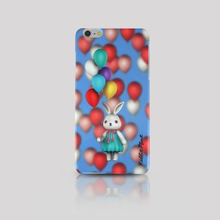 (Rabbit Mint) Mint Rabbit Phone Case - Bu Mali balloons Series Merry Boo - iPhone 6 Plus (M0008)