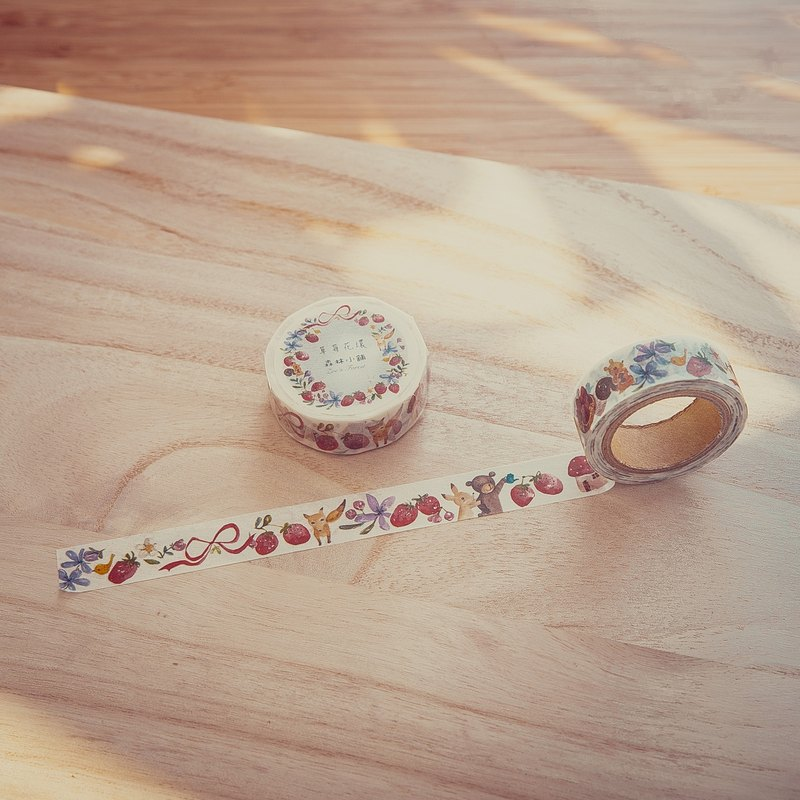 Zoe's forest 7號和紙膠帶-草莓花環 PinkoiXmas 聖誕禮物