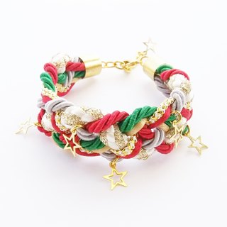 ELBRAZA braided bracelet with little star charms.