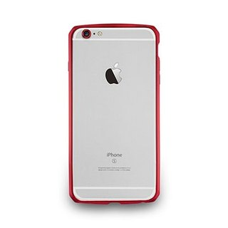 iPhone 6 Plus / 6s Plus- protected aluminum frame with carbon fiber pattern - red wine