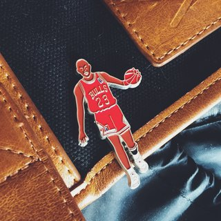 #01 The Basketball Player In Red Pin/Brooch