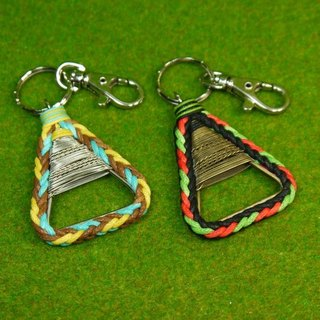 TvT / triangle braided rope key rings