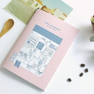 Good Afternoon! Monthly Notepad -coffee shop (pink)