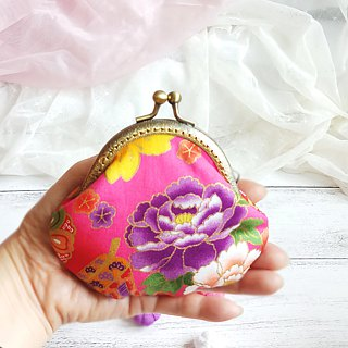 Japanese Kimono Fabric - Small clutch / Coin purse (JS-39)