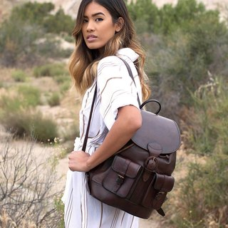 Santa Cruz Buckle leather shoulder bag brown