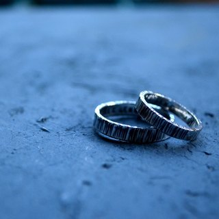 ▽-  HAMMERED -▽999 silver couple ring