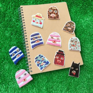 C'est trop Mignon \\ painted stickers * embroidery robber groups