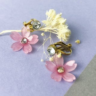 Pink Sakura Earrings