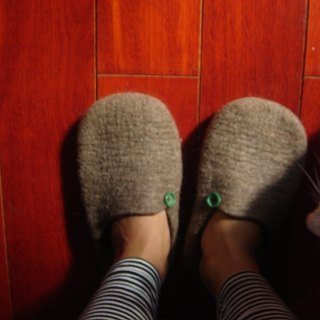Wool felt warm indoor shoes