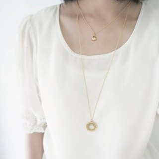 Seashell - Mermaid princess series (K gold plated necklace) - C percent handmade