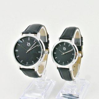 [UNI BASIC] Simple large surface with black surface (Couples watch)
