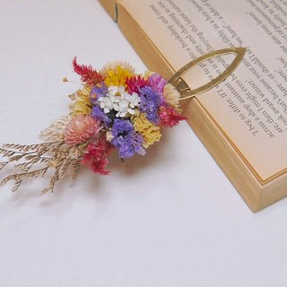 Moose Flower Amor Floral - One Page Page of Memory Dried Flower Bookmark 01 / Bookmark Photograph props Wen Qing