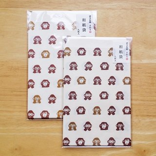 Japan Iyo Fuwari and paper packaging and paper bag (in) [monkey (FWB22004)]